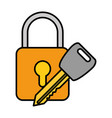 safe padlock with key vector image vector image