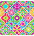 seamless pattern with decorative colorful tiles vector image vector image