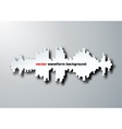 Silhouette of sound waveform with shadow vector image vector image