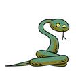 snake cartoon hand drawn image vector image