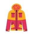 Snowboard sport clothes jacket design element vector image