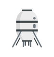 space capsule icon flat style vector image vector image
