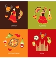 spain icons composition set vector image vector image