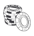 Stacks of gambling chips casino tokens vector image vector image