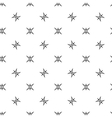 Stars geometric seamless pattern 2708 vector image vector image