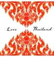 thai floral decorative ornament vector image