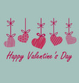 valentine greeting card with red and pink heart vector image