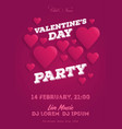 valentines day invitation flyer the template for vector image vector image