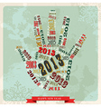 Vintage Happy New year 2013 hand vector image