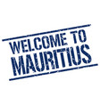 welcome to mauritius stamp vector image vector image