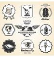 Education school academy university vintage symbol vector image