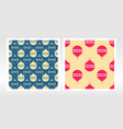 wrapping paper set seamless pattern with vector image