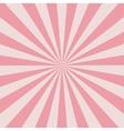 Retro pink rays vector image