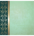vintage background with a border vector image