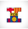 Football club barcelona vector image