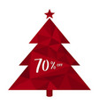 70 off seventy percent discount on background of vector image vector image