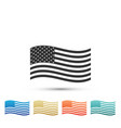 american flag icon isolated on white background vector image