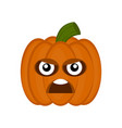 angry halloween pumpkin cartoon character vector image