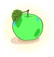 Apple green hand-painted vector image vector image