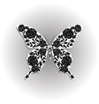 Beautiful butterfly with floral pattern vector image