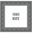 black abstract tribal frame vector image vector image