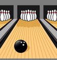 bowling ball and pins easy to edit vector image