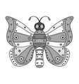 Butterfly Icon Drawing vector image