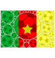 Cameroon soccer balls vector image vector image