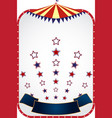 circus tent background vector image vector image