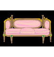 classical style sofa vector image vector image