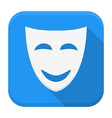 Comedy app icon with long shadow vector image vector image