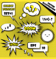 comic style speech bubbles set 1 vector image