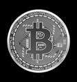 crypto currency bitcoin silver symbol vector image vector image