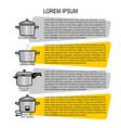 different types rice cooking instructions vector image vector image