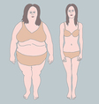 Fat and Thin woman vector image vector image
