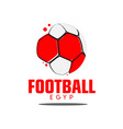 football egyp logo template design vector image vector image
