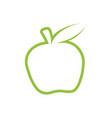 green apple outline icon modern minimal flat vector image vector image