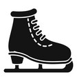 ice skate icon simple style vector image
