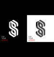 isometric letter s from stripes lines template vector image vector image
