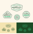 kayaking abstract frame signs labels or logo vector image vector image