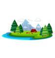 landscape nature summer vector image vector image