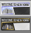 layouts for new york city vector image vector image