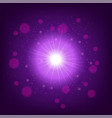 light effect on pink background star burst with vector image vector image
