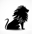 majestic lion black silhouette icon symbol vector image