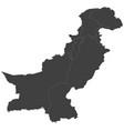 map of pakistan split into regions vector image vector image