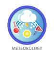 meteorology discipline themed concept logo vector image