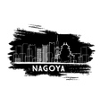 Nagoya Skyline Silhouette Hand Drawn Sketch vector image vector image