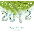 new year 2012 background vector image vector image