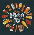 oktoberfest 2019 calligraphic handwriting vector image vector image