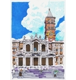 original marker painting of Rome Italy cityscape vector image vector image